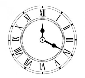 24 hours clock image